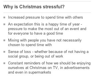 Why is Christmas stressful